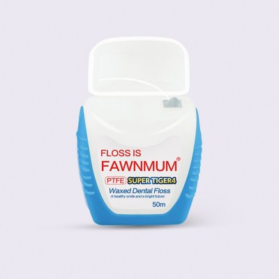 Fawnmum Waxed Dental Floss SUPER TIGER4 (PTFE) 50m